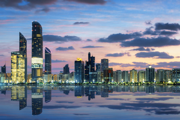 Abu Dhabi Skyline at sunset